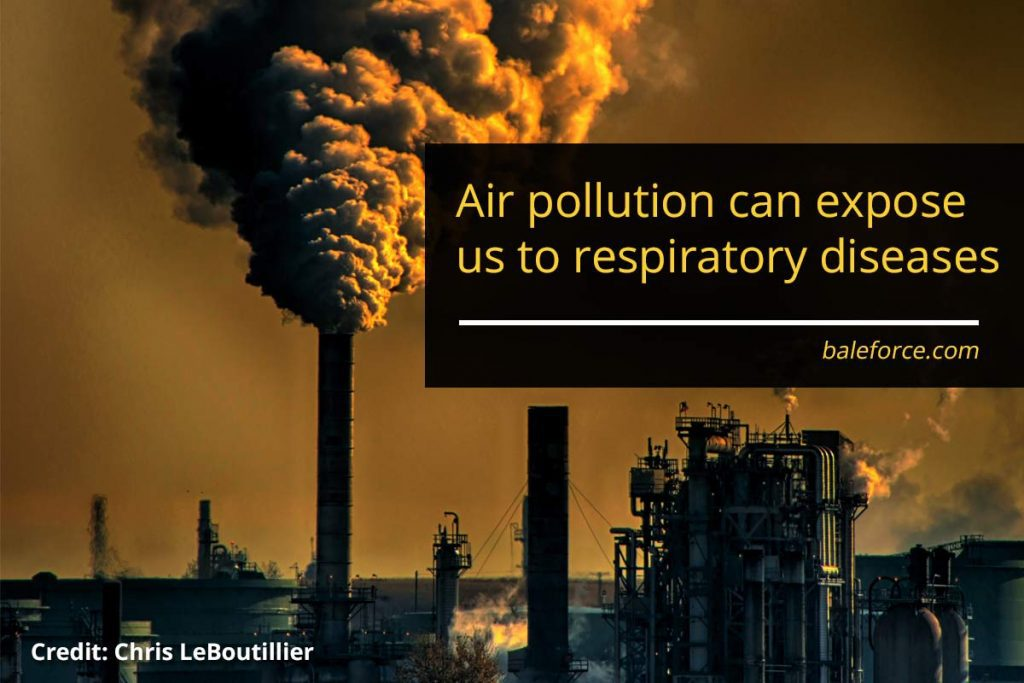Air pollution can expose us to respiratory diseases