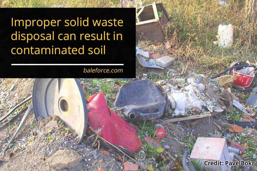 improper solid waste disposal