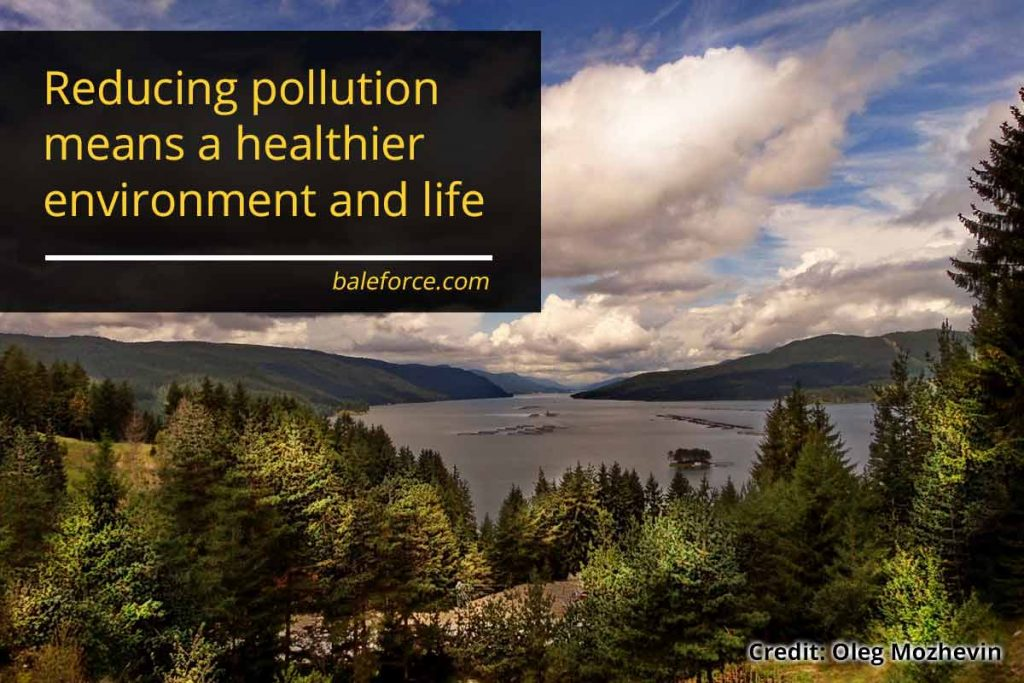 Reducing pollution means a healthier environment and life