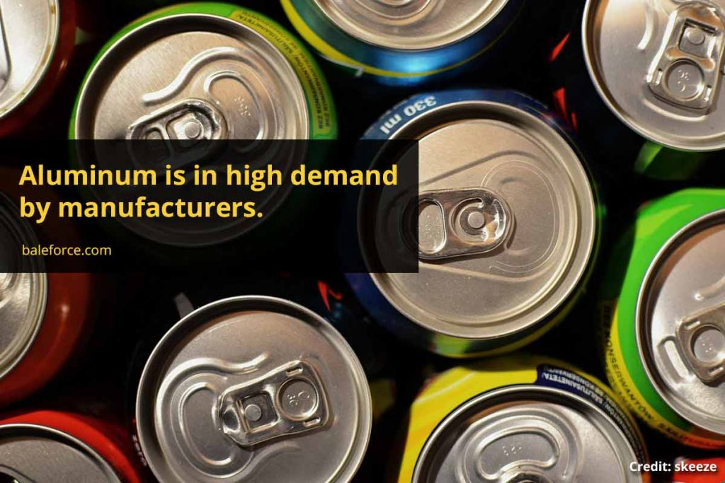 Aluminum is in high demand by manufacturers