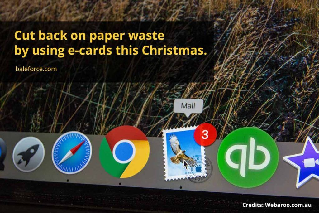 Cut back on paper waste by using e-cards this Christmas.