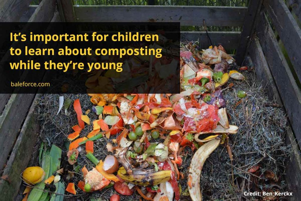 It's important for children to learn about composting while they're young