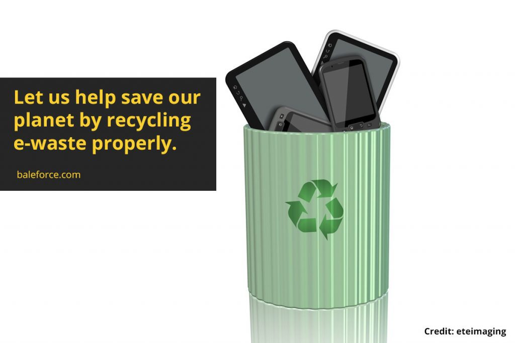 Let us help save our planet by recycling e-waste properly.