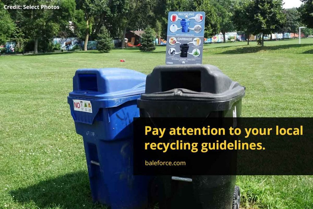 Pay attention to your local recycling guidelines.