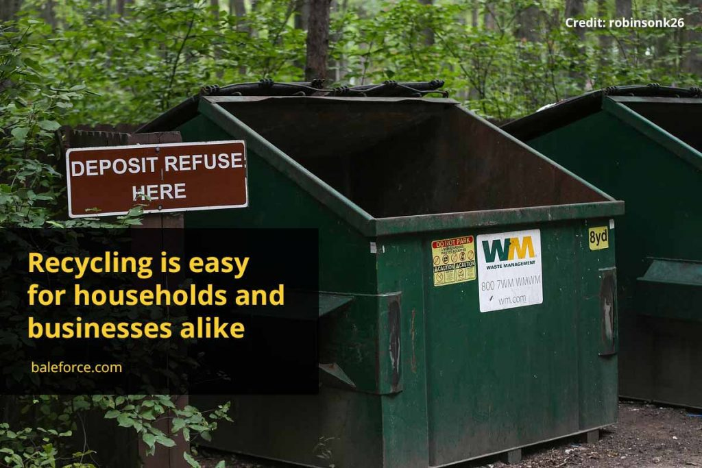 Recycling is easy for households and businesses alike