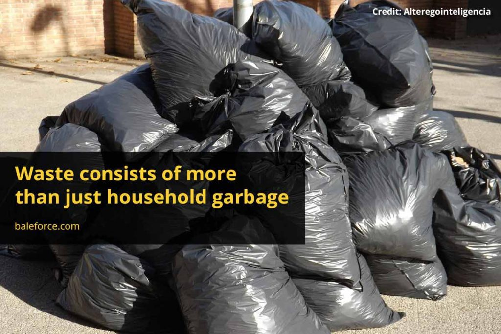 Waste consists of more than just household garbage