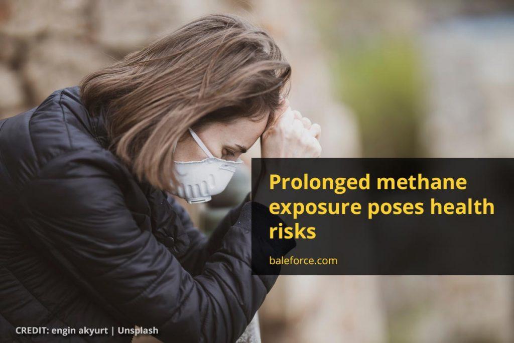 Prolonged methane exposure poses health risks
